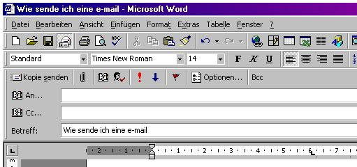 sende eine email